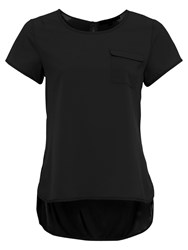 French Connection Classic Crepe Light Pocket Top Black