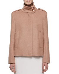 See By Chloe Short Wool Coat W Rose Golden Buttons