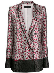 Haider Ackermann All Over Print Blazer Grey
