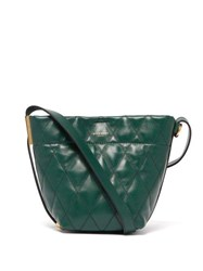 Givenchy Gv Quilted Leather Mini Bucket Bag Green