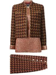 Chanel Vintage Three Piece Skirt Suit Red