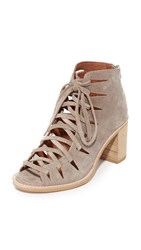 Jeffrey Campbell Corwin Lace Up Booties Taupe