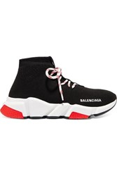 Balenciaga Speed Stretch Knit High Top Sneakers Black