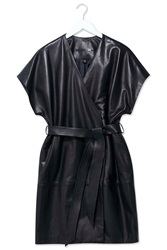 Leather Judo Wrap Jacket By Boutique Black