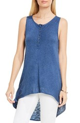 Vince Camuto Women's Two By High Low Tank Indigo Heather