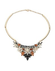 Design Lab Lord And Taylor Multi Stone Bib Necklace Black