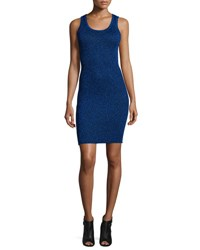Opening Ceremony Disco Ribbed Metallic Tank Dress Uv Blue