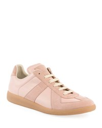 Maison Martin Margiela Men's Replica Suede And Leather Low Top Sneaker Blush