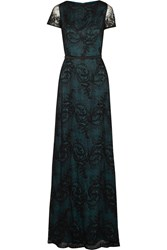 Catherine Deane Buckled Lace Gown Black