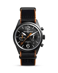 Bell And Ross Br 126 Carbon Orange Chronograph 41Mm Black
