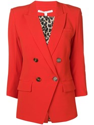 Veronica Beard Fitted Blazer Red