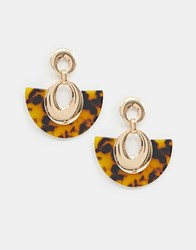 Stradivarius Resin Semi Circle Earring Gold