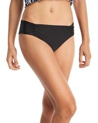 Athena Hey There Shirred Side Hipster Swim Bottom Plus Size Black