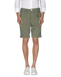 Happiness Trousers Bermuda Shorts Men Military Green