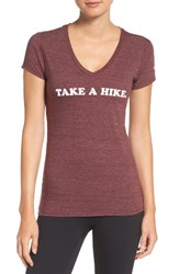 The North Face Women's Take A Hike Tee Deep Garnet Red Heather