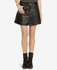 Denim And Supply Ralph Lauren Leather Miniskirt Black