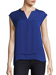 Laundry By Shelli Segal Faux Double Layer Top Limoges