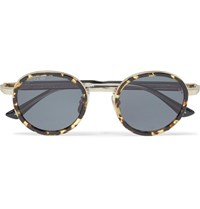 Gucci Round Frame Tortoiseshell Acetate And Gold Tone Sunglasses Black