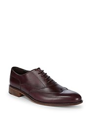 Bruno Magli Wingtip Leather Oxfords Bordeaux