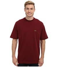 Pendleton S S Deschutes Pocket T Shirt Wine Mix Men's Short Sleeve Pullover Brown