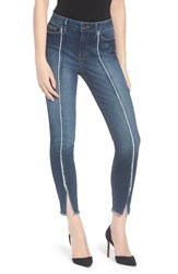 Good American Plus Size Women's Jeans Raw Seam Crop Skinny Jeans Blue135
