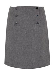 Hallhuber Button Flared Skirt Grey