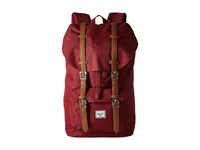 Herschel Little America Wine Tasting Crosshatch Tan Synthetic Leather Backpack Bags Brown