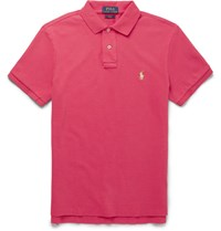 Polo Ralph Lauren Lim Fit Cotton Pique Hirt Pink