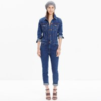 Madewell Rivet And Thread Denim Coverall Jumpsuit