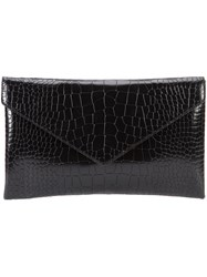 Alaia Embossed Clutch Black