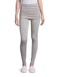 Splendid Foldover Heathered Leggings Heather Grey