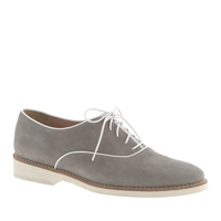J.Crew Pre Order Piped Suede Loafers Pale Graphite