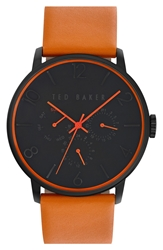 Ted Baker Multifunction Watch 42Mm Brown Gunmetal