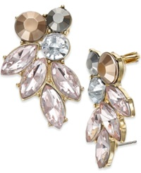 Bar Iii Gold Tone Blush Stone Ear Cuffs