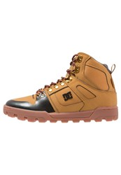 Dc Shoes Spartan Hightop Trainers Brown Red