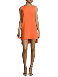 Nicole Miller Asymmetric Sleeveless Dress Coral