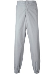 Jil Sander Gathered Ankle Trousers Grey