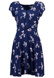 Dorothy Perkins Petite Butterfly Floral Jumper Dress Navy Dark Blue