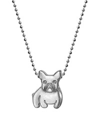 Alex Woo Sterling Silver French Bulldog Necklace 16
