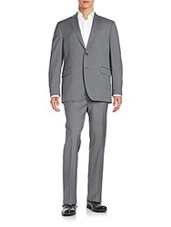 Saks Fifth Avenue Slim Fit Wool Suit Grey