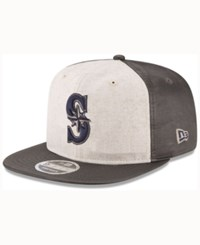 New Era Seattle Mariners Vintage Waxed 9Fifty Snapback Cap Heather Gray Walnut