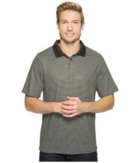 Cinch Athletic Tech Polo Striped Black Men's Clothing