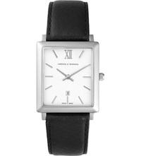Larsson And Jennings Lj W Nrs Sw40 L Norse Stainless Steel Leather Watch White