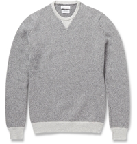 Richard James Knitted Cashmere Crew Neck Sweater Gray