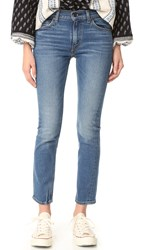 Levi's 505 C Cropped Slim Straight Jeans Blue Cheer