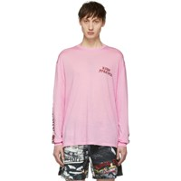 Adaptation Pink Logo Long Sleeve T Shirt