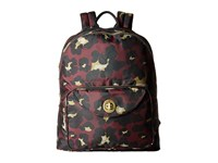 Baggallini Gold Brussels Laptop Backpack Scarlet Cheetah Backpack Bags Brown