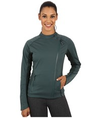 Asics Tier One Jacket Hampton Green Women's Workout Blue