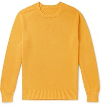 Anderson And Sheppard Cotton Sweater Yellow