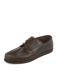 Eastland Falmouth Usa Leather Lace Up Moccasin Dark Olive Men's